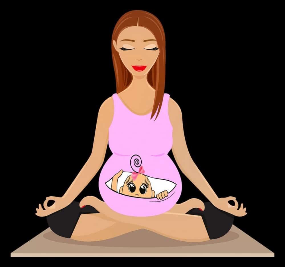 zwangere vrouw yoga bevalling